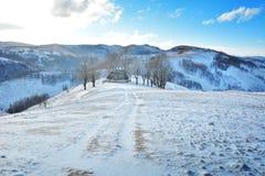 Χειμώνας στην Τρανσυλβανία Ρουμανία Στοκ εικόνες με δικαίωμα ελεύθερης χρήσης