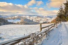 Χειμώνας στην Τρανσυλβανία Ρουμανία Στοκ φωτογραφία με δικαίωμα ελεύθερης χρήσης