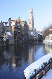 Χειμώνας στη Μπρυζ Στοκ φωτογραφία με δικαίωμα ελεύθερης χρήσης