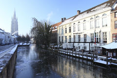 Χειμώνας στη Μπρυζ Στοκ Φωτογραφίες