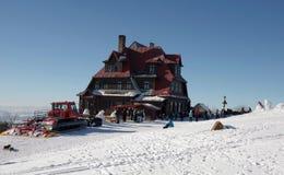 Χειμώνας στη moravian-Silesian περιοχή βουνών Στοκ Εικόνα