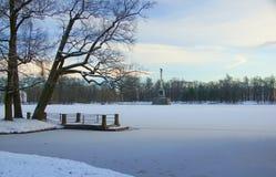 Χειμώνας στο Ñ€ark Στοκ Φωτογραφία