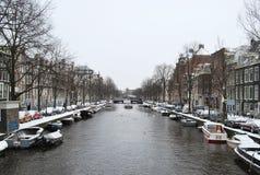 Χειμώνας στο Άμστερνταμ Στοκ Εικόνα