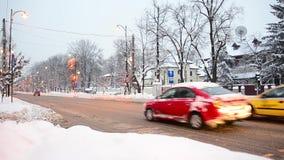 Χειμώνας στο Βουκουρέστι, τον Ιανουάριο του 2014 απόθεμα βίντεο