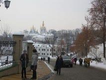 Χειμώνας στο Κίεβο στοκ φωτογραφία με δικαίωμα ελεύθερης χρήσης