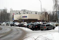 Χειμώνας στο κεφάλαιο της περιοχής Seskine πόλεων της Λιθουανίας Vilnius Στοκ Εικόνα