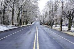 Χειμώνας στο νότιο Τζέρσεϋ - πολύ χιονώδες Στοκ εικόνα με δικαίωμα ελεύθερης χρήσης