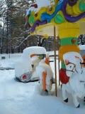 Χειμώνας στο πάρκο Στοκ Εικόνα