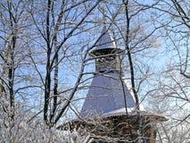 Χειμώνας στο πάρκο Kolomenskoye Στοκ Εικόνες