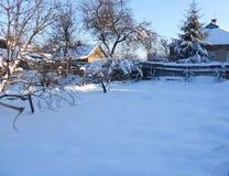 Χειμώνας στο σπίτι Στοκ Φωτογραφία