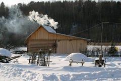 Χειμώνας στο χωριό Στοκ φωτογραφίες με δικαίωμα ελεύθερης χρήσης