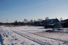 Χειμώνας στο χωριό Στοκ εικόνα με δικαίωμα ελεύθερης χρήσης