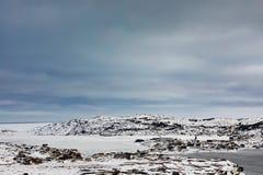 Χειμώνας στο ψαροχώρι Fogo NL Καναδάς outport στοκ εικόνα με δικαίωμα ελεύθερης χρήσης