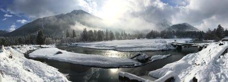 Χειμώνας στο arkhyz Στοκ Φωτογραφία
