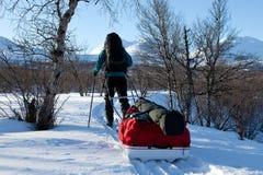 Χειμώνας στο Kungsleden στοκ φωτογραφίες