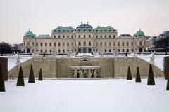 χειμώνας της Βιέννης παλατ στοκ εικόνες με δικαίωμα ελεύθερης χρήσης