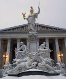 χειμώνας της Βιέννης πηγών Α&t στοκ φωτογραφία με δικαίωμα ελεύθερης χρήσης