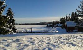 χειμώνας της Νορβηγίας Στοκ Εικόνα