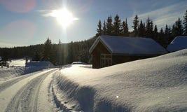χειμώνας της Νορβηγίας Στοκ Φωτογραφίες