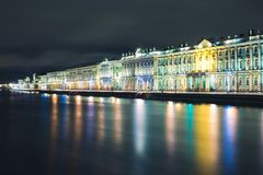 χειμώνας της Πετρούπολης στοκ εικόνα