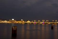 χειμώνας της Πετρούπολης Ρωσία Άγιος παλατιών νύχτας Στοκ Εικόνα