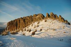 χειμώνας της Ρουμανίας β&omic στοκ εικόνα με δικαίωμα ελεύθερης χρήσης
