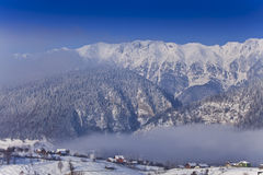χειμώνας τοπίου βουνών Στοκ εικόνα με δικαίωμα ελεύθερης χρήσης