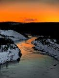 χειμώνας τοπίου ποταμών Στοκ εικόνα με δικαίωμα ελεύθερης χρήσης