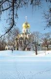 χειμώνας τοπίων εκκλησιών Στοκ Εικόνες
