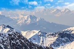 χειμώνας τοπίων ορών Στοκ Εικόνες