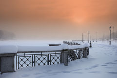 χειμώνας τοπίων πόλεων Στοκ Φωτογραφίες