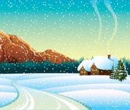χειμώνας τοπίων Διανυσματική απεικόνιση