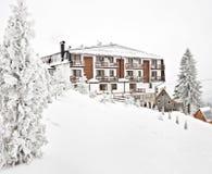 χειμώνας τουριστών σπιτιών Στοκ Εικόνες