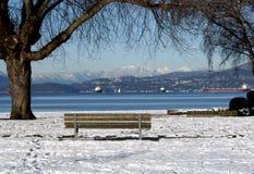 χειμώνας του Βανκούβερ στοκ εικόνες