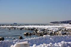 χειμώνας του Κεμπέκ Στοκ Εικόνες