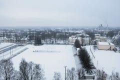 χειμώνας του Λονδίνου πόλεων Στοκ εικόνες με δικαίωμα ελεύθερης χρήσης