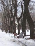 χειμώνας του Λονδίνου πόλεων Στοκ φωτογραφία με δικαίωμα ελεύθερης χρήσης