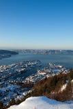 χειμώνας του Μπέργκεν στοκ φωτογραφία με δικαίωμα ελεύθερης χρήσης