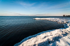 χειμώνας του Οντάριο λιμνών Στοκ εικόνες με δικαίωμα ελεύθερης χρήσης
