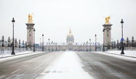 χειμώνας του Παρισιού Στοκ Εικόνες