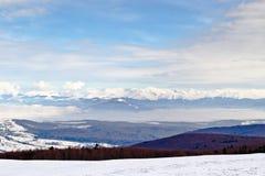 χειμώνας υψηλών βουνών Στοκ Εικόνες