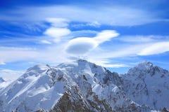 χειμώνας υψηλών βουνών Στοκ Φωτογραφίες