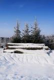 χειμώνας φύσης ανασκόπηση&sig Στοκ Εικόνα