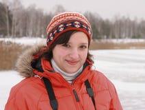 χειμώνας χαμόγελου κορ&iot Στοκ Φωτογραφία