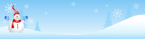 χειμώνας χιονανθρώπων σκη&n Στοκ Φωτογραφία