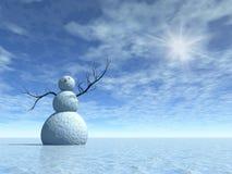 χειμώνας χιονανθρώπων τοπί&o στοκ εικόνες