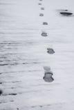 χειμώνας χιονιού σκηνής ίχνους Στοκ φωτογραφία με δικαίωμα ελεύθερης χρήσης