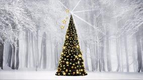Χειμώνας χριστουγεννιάτικων δέντρων απεικόνιση αποθεμάτων