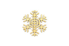Χειμώνας, Χριστούγεννα, νέα ξύλινη διακόσμηση έτους - snowflake, αστέρι Στοκ Εικόνα