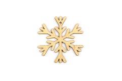 Χειμώνας, Χριστούγεννα, νέα ξύλινη διακόσμηση έτους - snowflake, αστέρι Στοκ Φωτογραφία